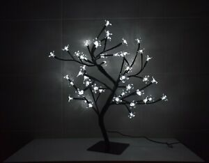KASCO BONSAI CHRISTMAS WHITE LED CHERRY TREE 45 cm TALL WITH 48 LIGHTS