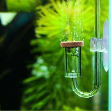 Aquarium CO2 Diffuser Fish Tank U Shape Glass Tube Check Valve Suction Cup-Clear