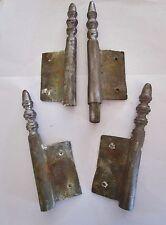 4 anciennes fiches à larder-en fer forgé-antique iron door hinges-18è