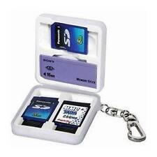 Vanguard White Rubber SD MS Pro Mini XD 3D Memory Card Holder Carabiner Key Ring