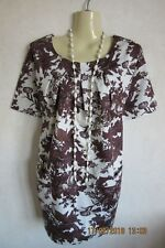 JOULES LOOSE FIT 'CAMELLIA' BIRD PATTERN TUNIC WITH POCKETS - SIZE 10-12 - BNWT!
