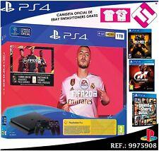 Sony PlayStation 4 Slim FIFA 20 Edición 1TB Consola con 2 Mandos Dualshock 4 – Jet Black