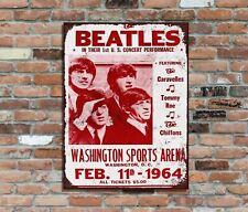 The Beatles 1st US Concert Washington Sports Arena Retro Vintage Metal Sign (2)
