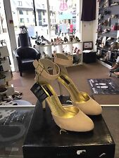 Blink PU Faux Suede Nude Stiletto Sandal With Ankle Strap NEW Size 7 RRP £45