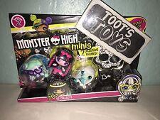 Monster High Minis Season 2 (3 Pack) Twyla, Draculaura, Frankie Stein