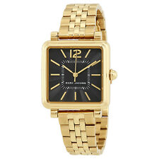 Marc Jacobs Vic Black Dial Ladies Gold Tone Watch MJ3516