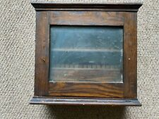 Dark Wooden Free Standing Glass Fronted Cabinet with Drawer and three shelves