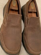 NEW!! SKECHERS 'CALCULOUS' MENS BROWN RELAXED FIT SLIPONS SIZE 10W $95 FREE SHIP