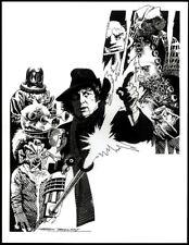 DOCTOR WHO 1976 BLACKPOOL EXHIBITION POSTER FRANK BELLAMY ILLUSTRATION ARTWORK