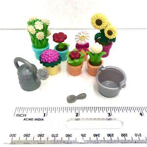Li'l Woodzeez Animal Flower Pot Plants Garden Dollhouse Miniatures Flower Lot 10