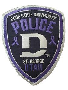 Dixie State University Police Domestic Violence Awareness Patch UT Utah