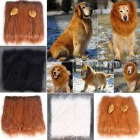 Pet Costume Lion Mane Wig Hair for Large Dog Halloween Fancy Dress up Clothes