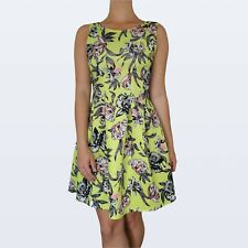 Cardy couture floral lime green dress age 14 fits size 8 too
