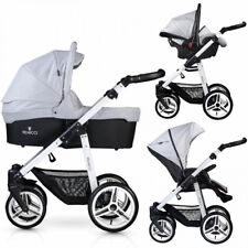 Venicci Soft 3 in 1 Travel System White Chassis / Light Grey