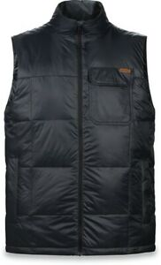 New Dakine Men's Brightwood Down Insulated Mid Layer Packable Vest Large Black