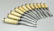 WOOD CARVING SET 12 PC CHISEL SET WOOD CARVERS CHISELS - GOUGES SHAPES 12 PIECES
