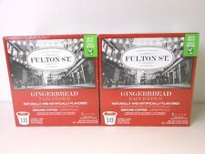 36 FULTON ST. GINGERBREAD K-CUP COFFEE ~ (2) BOXES OF 18 EACH ~ BB 01/30/2018