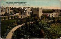 Vtg 1915 Kern and Tulare Buildings, Panama Expo San Diego California CA Postcard