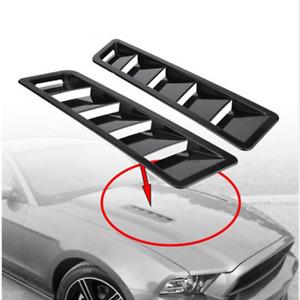 2x Black Car Decoration Air Flow Intake Hood Scoop Bonnet Vent Cover Universal