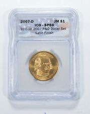 SP69 2007-D James Madison Presidential Dollar - Satin Finish - Graded ICG *895