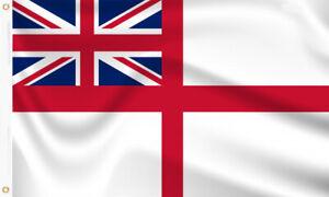 WHITE ENSIGN FLAG BRITISH ROYAL NAVAL 5X3 FT PREMIUM POLYESTER 75D
