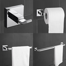 4 Piece Towel Bar Set Bath Accessories Bathroom Hardware - Brass Chrome Finish