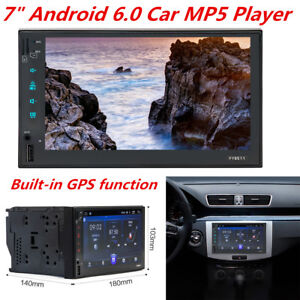 """7"""" Touch Screen Car Android 6.0 GPS Navigation Bluetooth Wifi MP5 Card Player"""