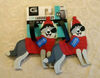 NWT G Force 2-pk PVC Dogs Luggage Tags Travel Bag Tote Accessories #190719-197