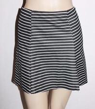 factorie Designer Black White Stripe Holly Flute Hem Skirt Size L BNWT #SY50
