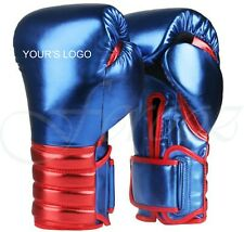 Metallic 100% Leather Boxing Sparring professional Gloves  No winning No grant