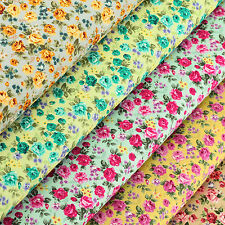 Cotton Fabric FQ Rose Floral Shabby Vintage Retro Chic Dress Sew Quilting VK86