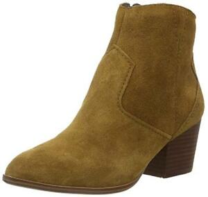 ALDO SIZE 7 OR 8 MARECCHIA TAN BROWN REAL SUEDE LEATHER COWBOY ANKLE BOOTS BNWB