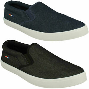 A1R128 MENS REFLEX SLIP ON PLIMSOLLS CASUAL EVERYDAY SUMMER PUMPS SHOES SIZE