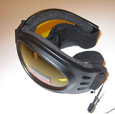 Yellow Tint Mirror Goggles Googles Motorcycle PADDED get them for Snomobile New