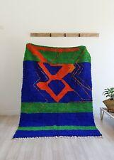 8.3ft /5.2ft Moroccan rug ben ourain rug navy rug vintage rug handmade carpet