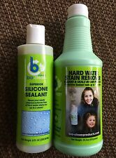 Bio Clean Hard Water Stain Remover & Sealant COMBO Pack Glass Tile polish