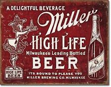 Miller High Life Beer USA Milwaukee Bier Vintage Design Metall Schild