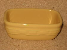 Longaberger Butternut Yellow Pottery Dash Bowl Mint condition not used