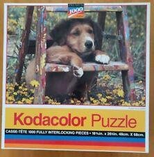 "Kodacolor Puzzle ""Pooch on a Ladder"" Premium 1000 Pcs Vintage '94 New"