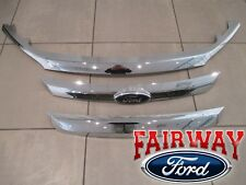 10 thru 12 Fusion OEM Ford Chrome Bright Grille Grill 3-piece Set w/ Emblem