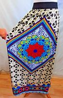 Tease Women Plus Size 1x 3x Red Brown White Stretch Full Chevron Long Skirt
