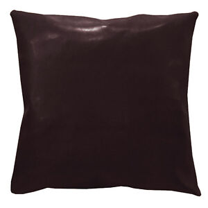 pe203a Coco Brown Faux Leather Classic Cushion Cover/Pillow Case*Custom Size*