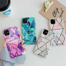 Hot New Plating Creative Fashion Splice Marble Cool Case For Various Phone Cover