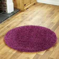 Large 5cm Modern Aubergine Carpets Thick Shaggy Rugs 133 X 133 Cm