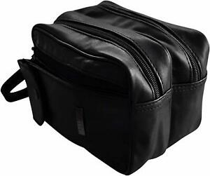 Taxi Driver Money Bag Leather and Consisting Two Compartments Black Medium New