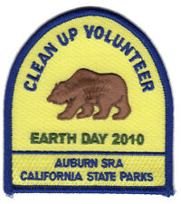 Auburn SRA - California State Parks -  Volunteer Patch - Earth Day 2010 Award