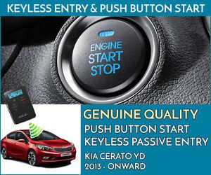 KIA CERATO Push Button Engine Ignition Start & Keyless Entry Installation
