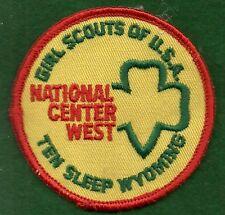 VINTAGEGIRL SCOUTS NATIONAL CENTER WEST TEN SLEEP PATCH