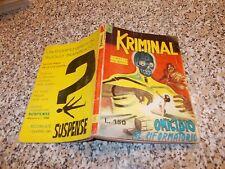 KRIMINAL N.5 ORIGINALE del 1964 CORNO BUONO TIPO SATANIK-DIABOLIK-MAGNUS-FORD