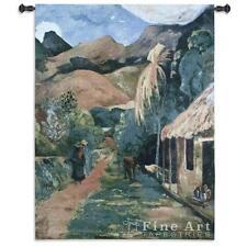 Chemin a Papeete Fine Art Wall Tapestry Gaugun's Repro